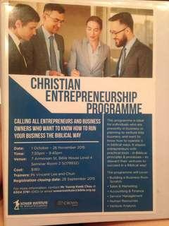 Christian entrepreneur notes