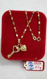 2.1g gold necklace for women