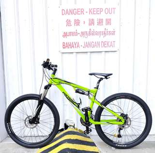 26er Polygon Plateau Full Suspension Mountain Bike