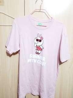 Uniqle Line Friend 粉紅色 T-shirt