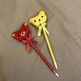 🚚 【全新】兩隻點點熊熊造型原子筆