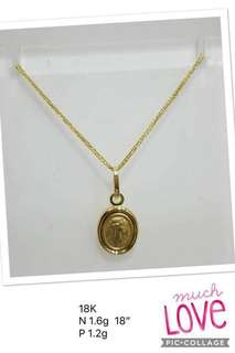 2.8g gold necklace for women