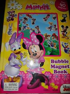 Pre loved minnie bubble magnet book