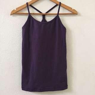 Nike Purple Dri Fit Tank w Built in Shelf Bra