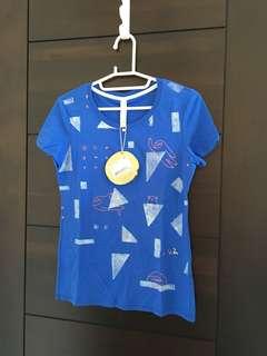 🚚 a la sha 藍色短袖上衣(樹懶)
