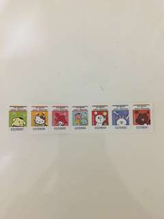 7-11 Line Friends x Sanrio Character Glass Container Stamps