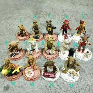 日本 日版TOYSCABIN世界的泰迪熊扭蛋轉蛋復古收藏海洋堂車子嬰兒英國德國滑雪玩具限定toy teddy bear
