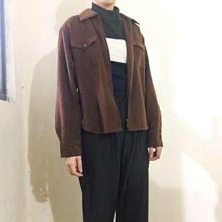 絨感襯衫外套