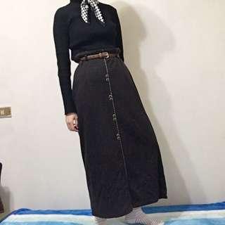 書生氣息復古長裙