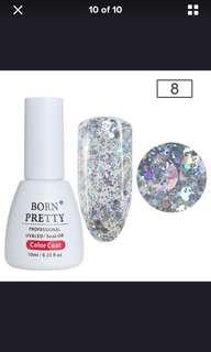 Silver diamond gel polish 10 ml (10% discount)