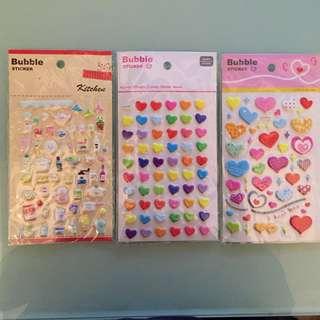 貼紙3張 BubbleStickerx3