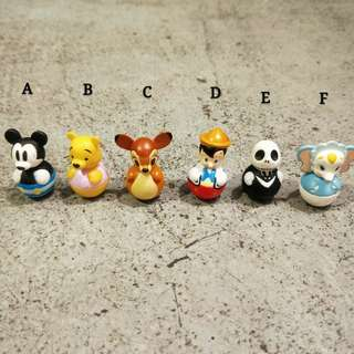 日本 迪士尼米奇小熊維尼小鹿斑比小木偶小飛象傑克聖誕夜驚魂不倒翁扭蛋絕版轉蛋玩具限定日版可愛收藏擺飾裝飾嬰兒迷你toy