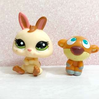 Littlest pet shop dwarf bunny rabbit and doll accessory