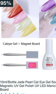 10ml Jade pearl cat eye gel with magnetic board