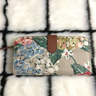 Authentic Cath Kidston Floral Folded Zip Long Wallet