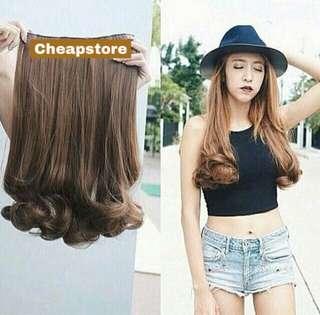 Hairclip biglayer Curly 50cm Sisa darkbrown