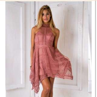 Scarlet Race Dress: Dusty Pink