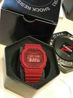 GSHOCK RED OUT EDITION WATCH