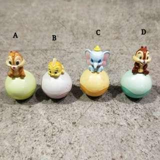 日本 價錢在內文裡! 迪士尼奇奇蒂蒂小美人魚小飛象松鼠大象魚球不倒翁扭蛋絕版轉蛋玩具限定日版可愛收藏擺飾裝飾嬰兒迷你toy