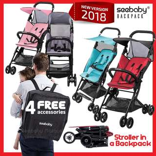 Seebaby Backpacker Light Weight Cabin Size Stroller for 6months ~ 3yrs old
