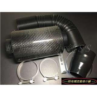 🚚 碳纖維Carbon集氣箱內含高流量香菇頭套組(通用款) K8 K9 K6 LANCER CORONA PREMIO