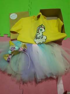 Unicorn bday outfit