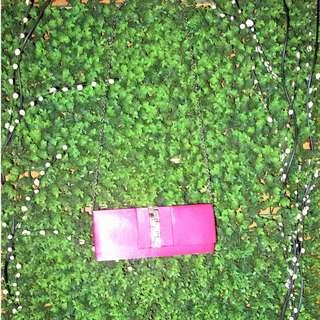 Glossy Pink Clutch Bag