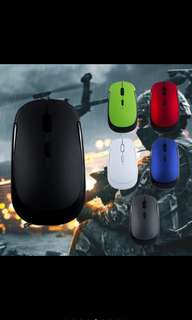 2.4GHz Mouse Mice Gaming Ultra Thin Wireless Optical USB Receiver Home Computer Office Laptop PC Use