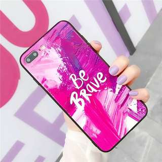 (PO) Be Brave Quote Paint Slash Art Background iPhone Casing