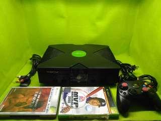 🚚 XBOX初代機功能正常台規機附兩塊正版遊戲