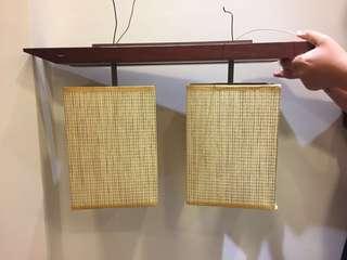 二手  日式吸頂燈  和室燈  黃光
