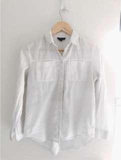 Topshop white casual shirt