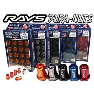 🚚 [日本進口]Rays Dura Nuts 鍛造7075鋁合金防盜鋁圈螺絲螺母M12x1.5(槍灰) FORTIS 86 馬6 K12 IS300