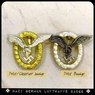 Nazi Luftwaffe Pilot observer Badge Medal swastika Hitler medal World War Two Third Reich