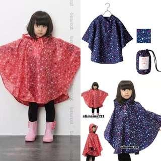 🚚 日本男女生時尚秋季風衣雨披斗篷式雨衣