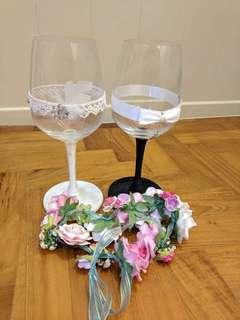 Couple glass - Bride & Groom