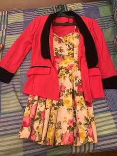 Floral Dress & Blazer