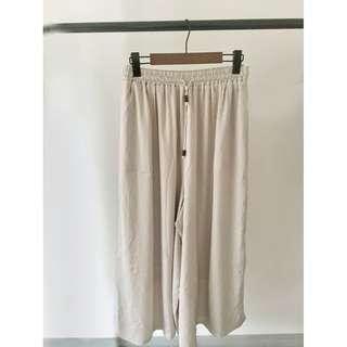 日本Grove 包郵 25-47腰 超涼爽 鬆緊腰 闊腳 鬆身 綁帶 繩褲