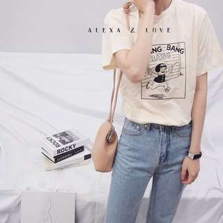 Alexa&Love 韓系小女孩短袖T恤TEE(特)