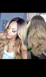 (NO INSTOCKS!) Preorder korean wavy ombre blonde dip dyed hair wig * waiting time 15 days after payment is made *chat to buy to order