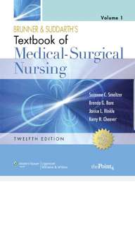 Brunner and Suddart's Texbookof Medical-Surgical Nursing 12th Ed PDF copy