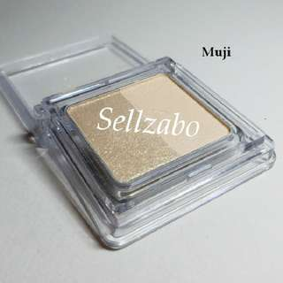 Used Muji 2 Colour Palette Eyes Shadow Eyeshadows Eyesshadows Set Makeup Cosmetics Beauty Beige Gold Golden Sellzabo