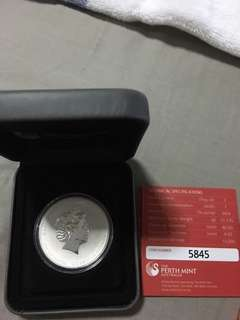 Perth Five Blessings silver coin 1 oz