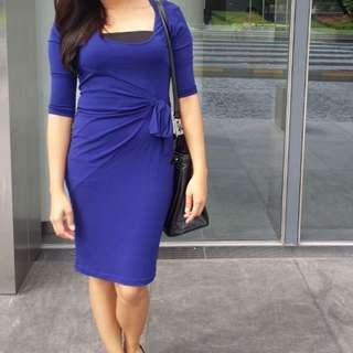Blue Office Dress