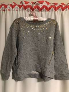 H&M Sequinned Grey Sweater (Size 2-4Y)