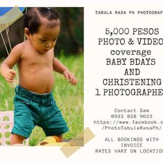 baby photo video coverage photographer package