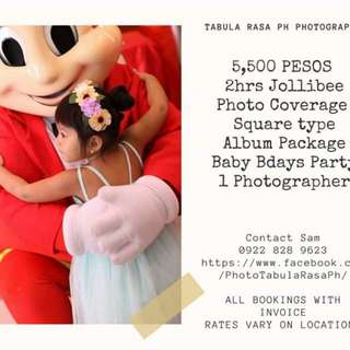 baby photo coverage with album package