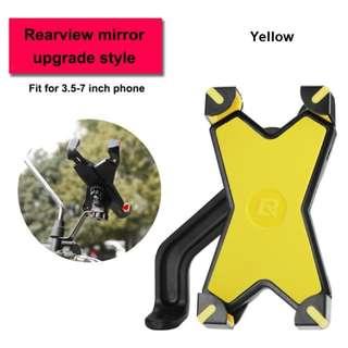 Rockbros Bicycle/Motorcycle Phone Holder PH666 (Yellow)