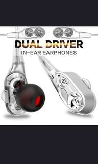 BUY NOW FOR SPECIAL OFFER (U.P. $19.90) Dual driver in-ear earphones