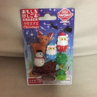 BN Sealed Authentic Iwako eraser collectibles  Christmas edition